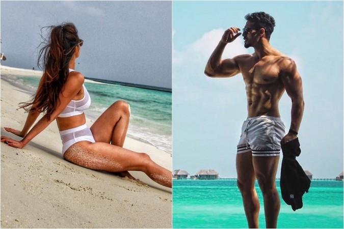 Disha Patani Ultra New Hd Wallpaper In Bikini: Disha Patani, Tiger Shroff Flaunt Their Hot Bods During