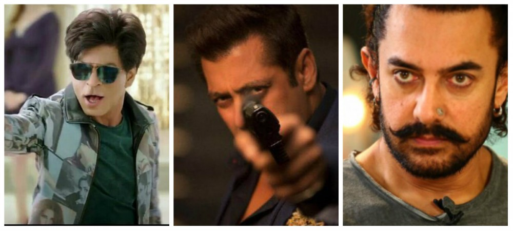 Shah Rukh Khan in Zero, Salman Khan in Race 3 and Aamir Khan in Thugs of Hindostan
