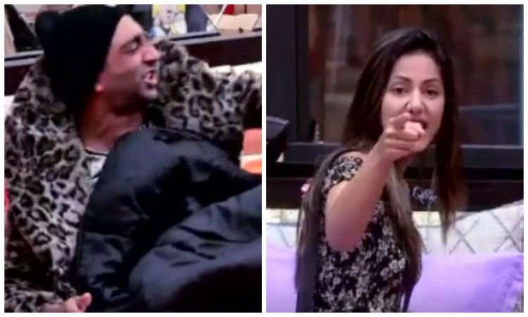 Akash Dadlani and Hina Khan in Bigg Boss 11