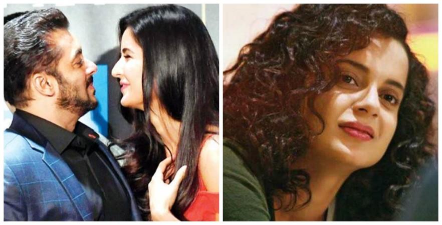 Salman Khan and Katrina Kaif (left), Kangana Ranaut (right)