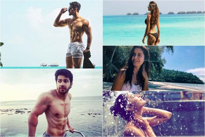 Katrina, Disha, Jacqueline, Tiger, Varun