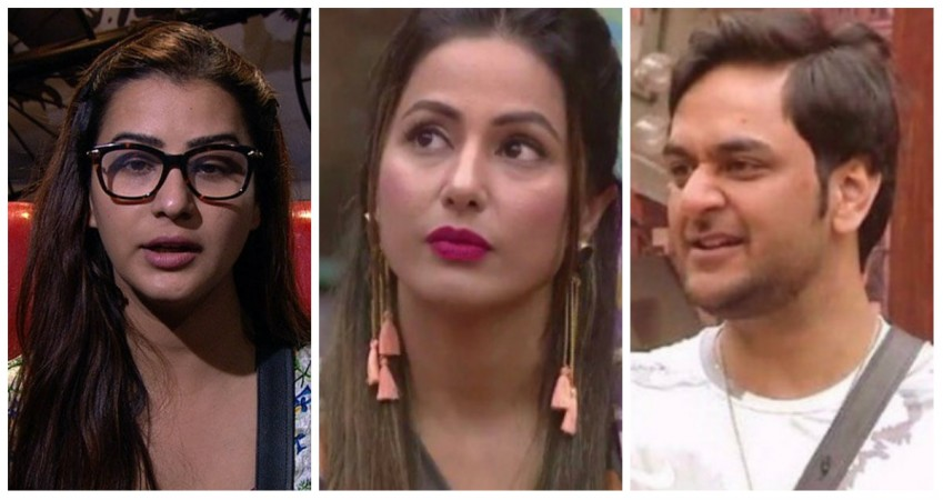 Shilpa Shinde, Hina Khan and Vikas Gupta