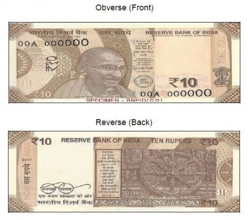 Rs 10 notes