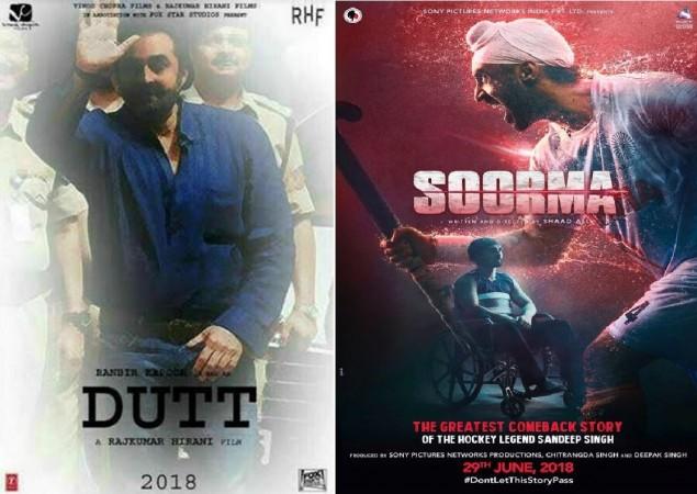 Sanjay Dutt film Sanju and Diljit Dosanjh's Soorma clash