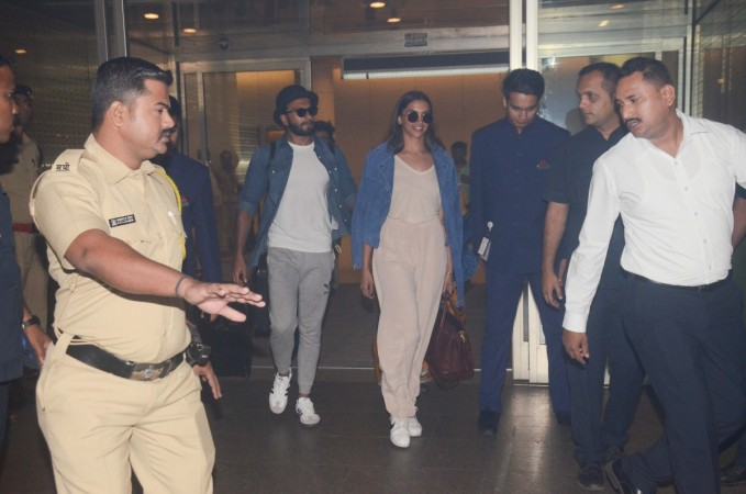 Ranveer Singh and Deepika Padukone at airport