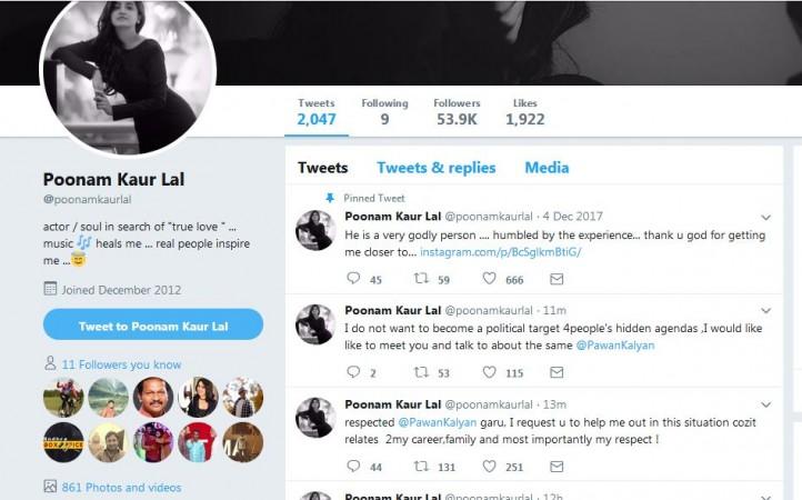 Poonam Kaur's deleted tweets
