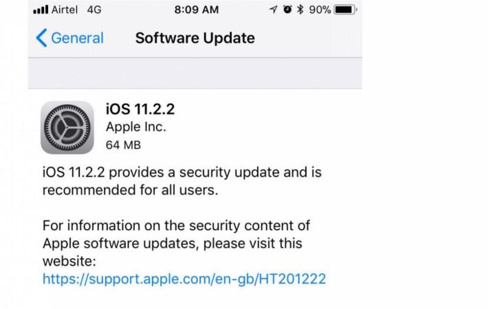 Apple, iOS 11.2.2 update, Spectre, Meltdown, security, threat