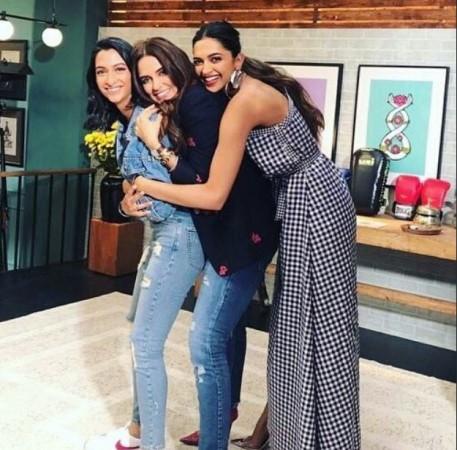 Deepika Padukone on the sets of Vogue BFFs
