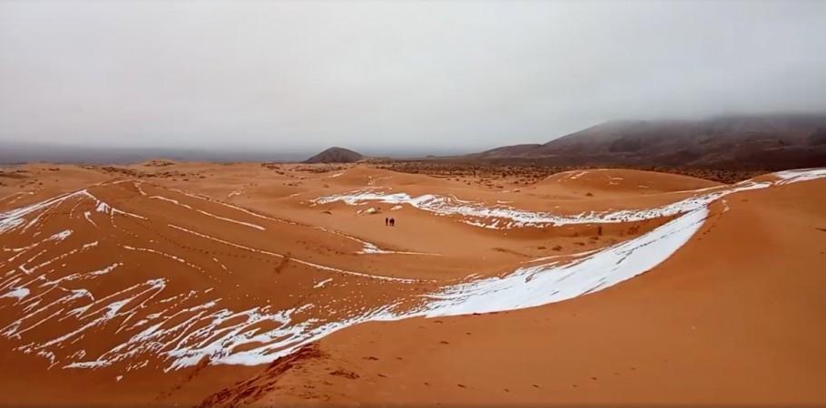 snowstorm in sahara desert