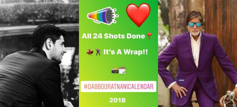 Sidharth Malhotra, Amitabh Bachchan in Dabboo Ratnani Calendar 2018