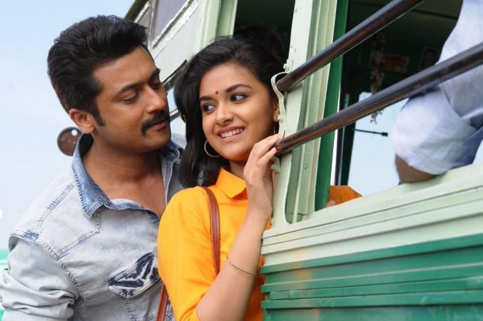 Suriya and Keerthy Suresh in Thaanaa Serndha Koottam