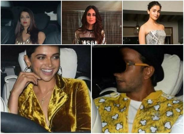 Aishwarya Rai, Kareena Kapoor, Alia Bhatt, Deepika Padukone, Ranveer Singh