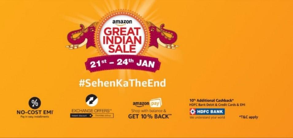 Amazon, Great Indian Sale, 2018, best deals