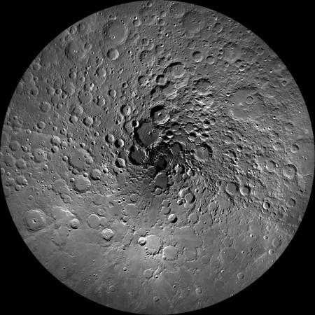 Moon North pole