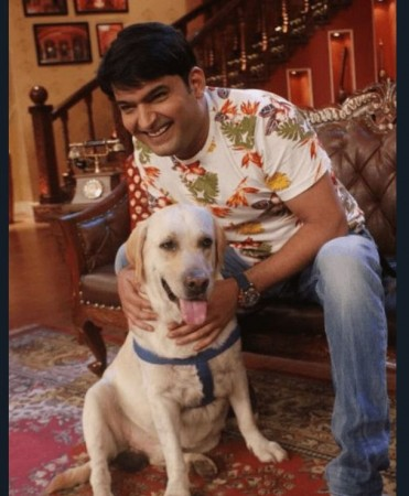 Kapil Sharma with his dog Zanjeer