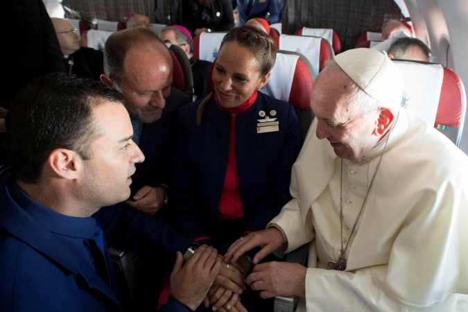 Pope Francis performs marriage ceremony