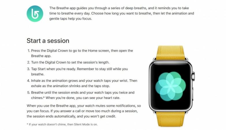 Breathe, Apple Watch App, fitness app, health app, goodness app