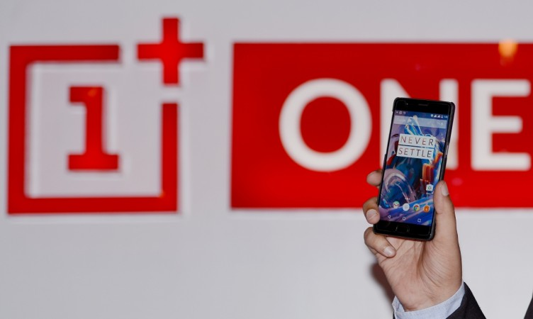 OnePlus 3 mobile at an event in New Delhi on June 15, 2016.