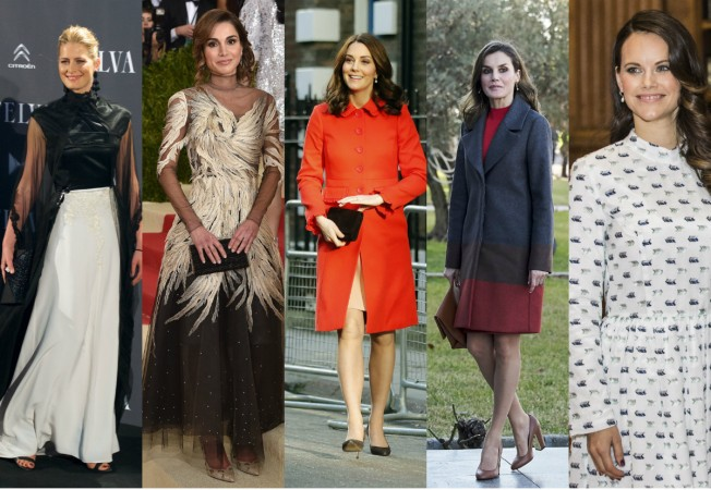 Kate Middleton, Queen Letizia of Spain, Queen Rania of Jordan, Princess Sofia of Sweden and Princess Tatiana of Greece