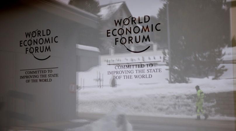 Davos, SwitzerlandThe logo of the World Economic Forum (WEF) is seen the congress centre in the Swiss mountain resort of Davos, Switzerland, January 11, 2018 REUTERS/Arnd Wiegmann