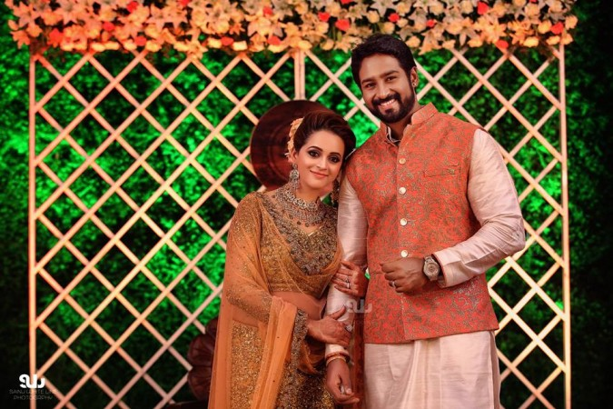 Bhavana Naveen Wedding Reception Photos Look Who All Attended The