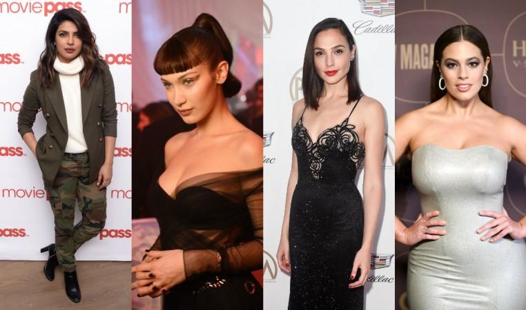 Priyanka Chopra, Ashley Graham, Gal Gadot, Bella Hadid