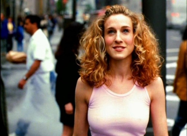Sarah Jessica Parker as Carrie Bradshaw, in the opening credits of Sex and The City.