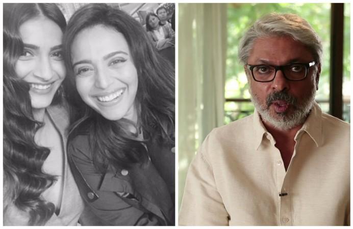 Sonam Kapoor, Swara Bhaskar (left) Sanjay Leela Bhansali (right)