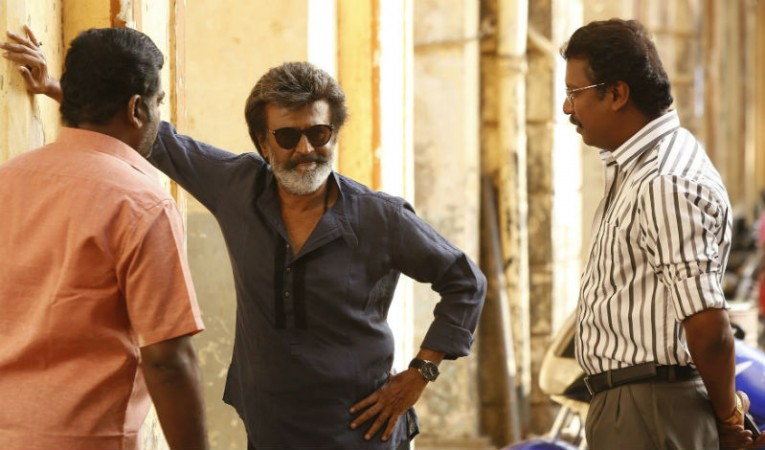 Rajinikanth with Samuthirakani in Kaala