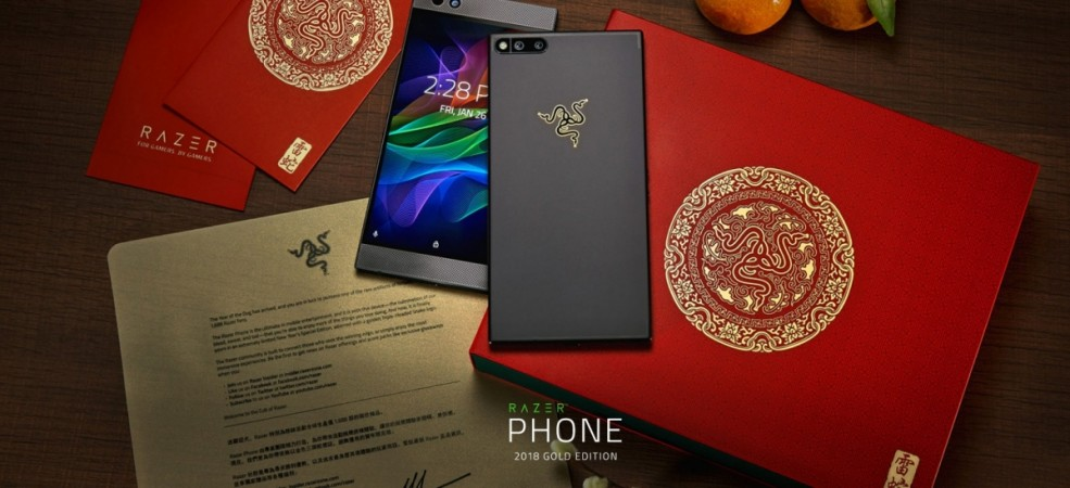 Razer Phone 2018 Gold Edition as seen on the company's website