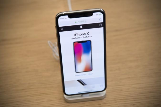 iPhone X on display