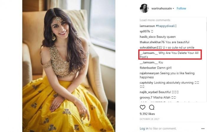 Warina Hussain's Instagram