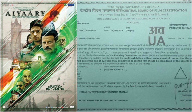 Aiyaary gets clearance certificate