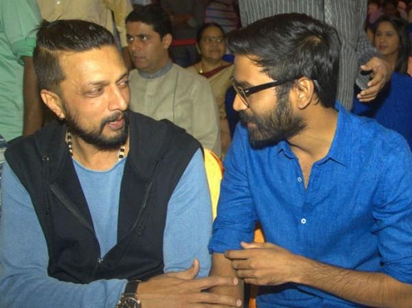 Sudeep with Dhanush