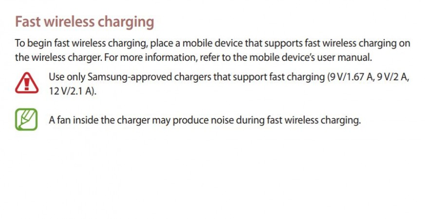 Samsung, Galaxy S9, wireless charging, feature
