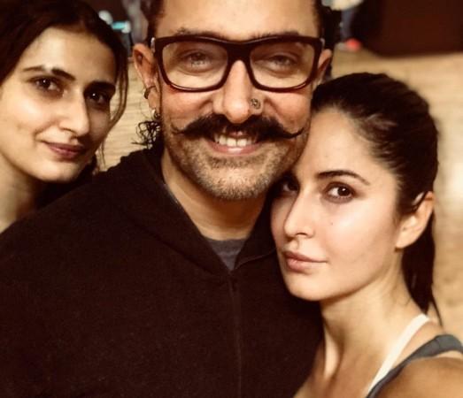 Katrina Kaif, Aamir Khan, Fatima Sana Shaikh
