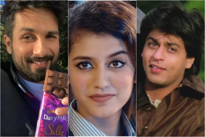 Shahid Kapoor, Priya Prakash Varrier, Shah Rukh Khan