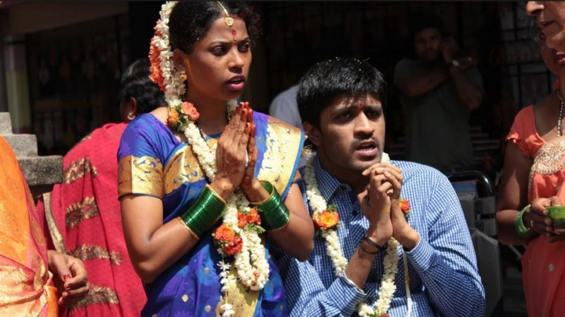 Gymnastics athlete Ananth Rao with his wife Chandraprabha