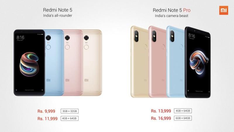 Xiaomi Redmi Note 5 & Redmi Note 5 Pro