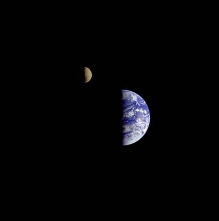 Earth, Moon, Galileo