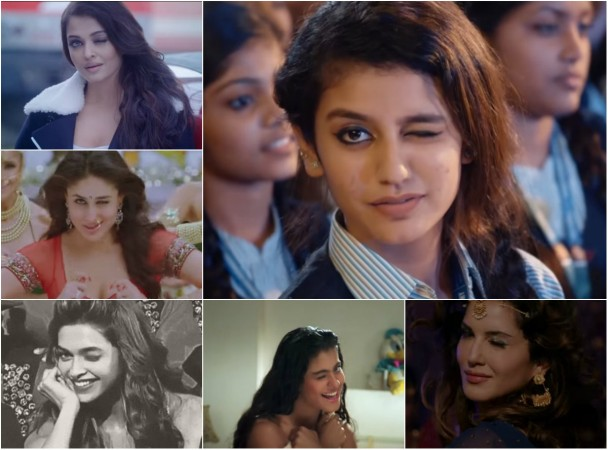 Bollywood actresses' wink vs Priya Prakash Varrier's wink