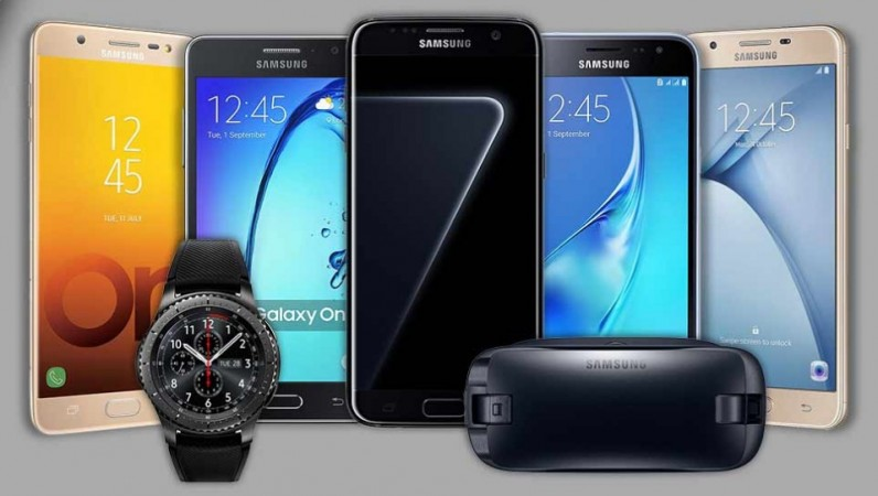 Samsung products on display