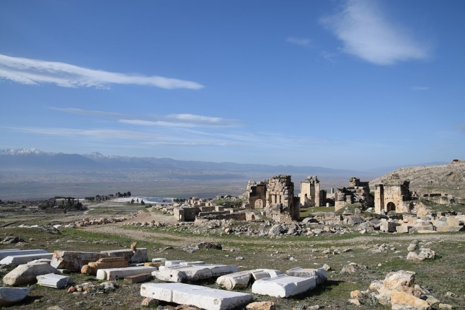 Ancient city of Hierapolis, located in modern-day Turkey,