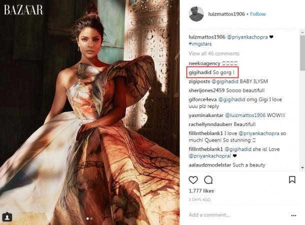 Gigi Hadid in awe of Priyanka Chopra