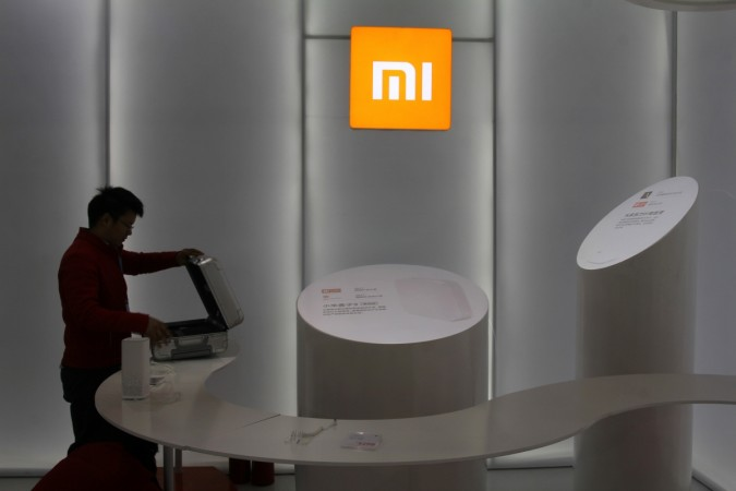 A booth of Chinese smartphone maker Xiaomi is seen at an industrial design expo in Wuhan, Hubei province, China