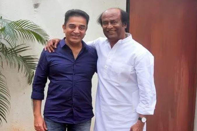 Kamal Haasan with Rajinikanth