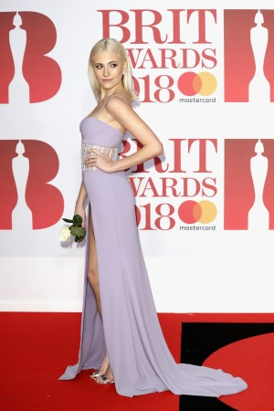 Pixie Lott attends The BRIT Awards 2018 held at The O2 Arena on February 21, 2018 in London