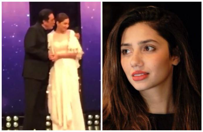 Javed Sheikh tried to kiss Mahira Khan at award show