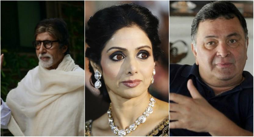 Amitabh Bachchan, Sridevi, Rishi Kapoor