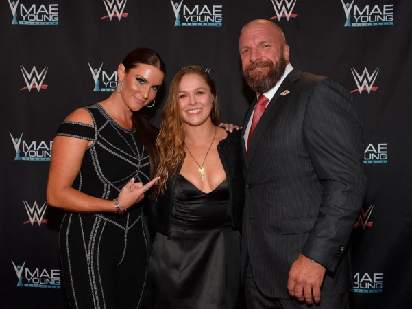 Ronda Rousey put Triple H through a table at WWE Elimination Chamber